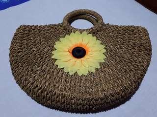 Beautiful woven sunflower handbag