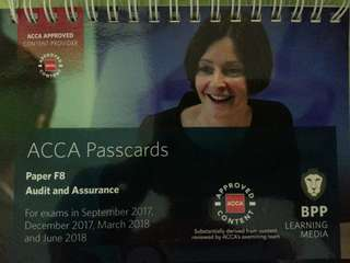 ACCA BPP F8 Study Text, Revision Kit and Passcards