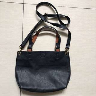 G. H. Bass & Co. Reversible black/brown tote