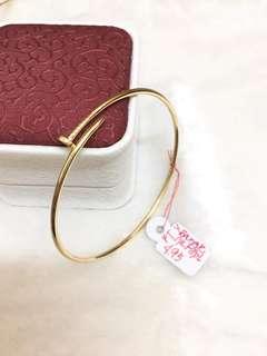 Saudi Gold 18k Nail bangle