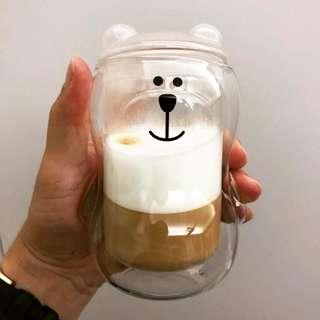 🚚 星巴克熊熊雙層杯