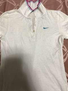 Authentic Nike White Polo shirt