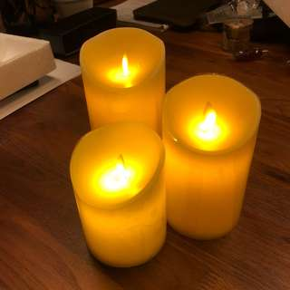 🚚 Battery Operated real wax Candles in set of 3