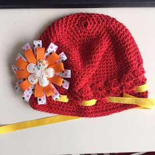 Baby Hat (Red Crochet)