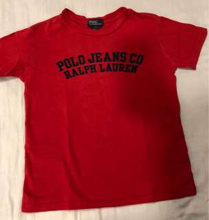 POLO RALPH LAUREN TEE SHIRT FITTING 7 - 9 years old