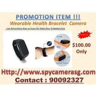 Spy Camera Wearable Bracelet