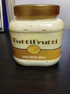 Gold facial mask from Dubai