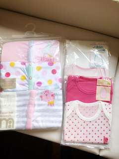 Mothercare Sleepsuits and UNIQLO bodysuits (size 90)