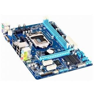 🚚 技嘉 GA-H61M-DS2(REV : 2.2) 1155腳位主機板、內建網、音、顯、DDR3、拆機良品、附擋板