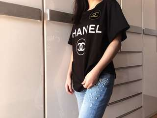 Auth Nike x CHANEL Sport black top