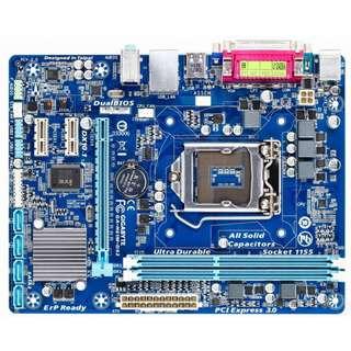 🚚 技嘉GA-H61M-DS2 (rev. 3.0) Socket 1155 主機板、支援二代、三代處理器、拆機良品附檔板