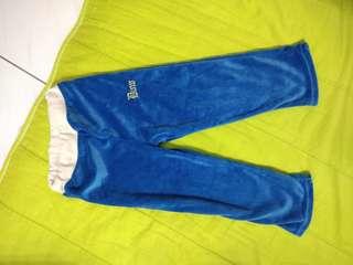 毛絨的幼兒長褲藍色,二手