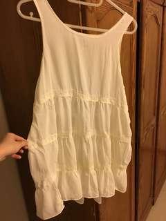 Forever 21 白色蕾絲洋裝
