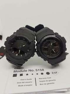 MATTE BLACK COUPLE GSHOCK WATCH