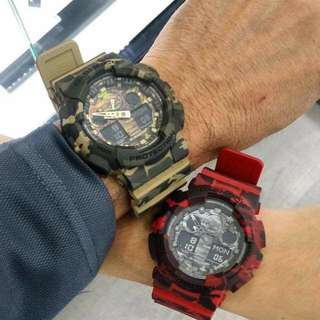 COUPLE CAMOUFLAGE GSHOCK WATCH