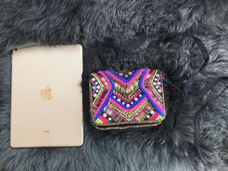 New Look Multicoloured Pom Pom Embellished Cross Body Bag
