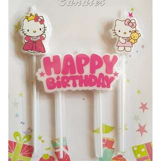 Hello Kitty Long Cake Candles
