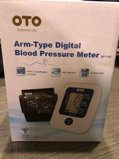 OTO Arm Type Digital Blood Pressure Meter