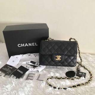 Chanel Classic Flap Bag in Caviar 19cm