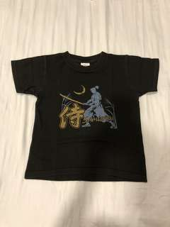 TOKYO Samurai pre shrunk and heavy cotton t-shirt fitting 7 to 8 years old