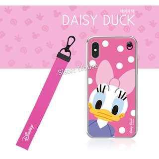 (包郵)🇰🇷Disney Daisy Duck Strap Soft Case 廸士尼黛絲掛繩軟手機殼