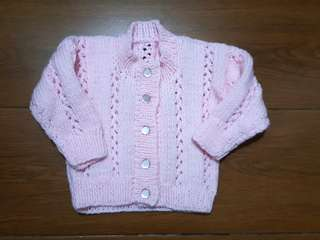 Pink Sweater 3-6 mos