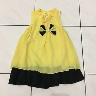 Yellow Chiffon Dress 2-3yrs