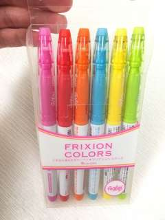 Pilot Frixion Markers 6 colors