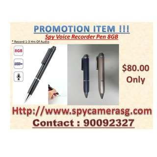 Spy Pen Audio Recorder 8GB