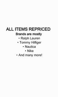 ALL ITEMS REPRICED