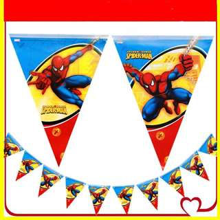 💥Superheroes Spiderman party supplies - party banner / bunting / party deco