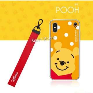 (包郵)🇰🇷Disney Winnie the Pooh Strap Soft Case 廸士尼小熊維尼掛繩軟手機殼