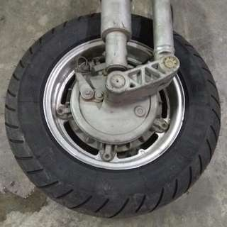 Vespa PX200 Front Fork Assembly Complete With Wheel