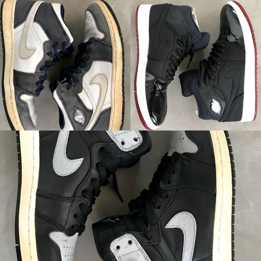 sale retailer 54fe6 dc57a 3 X Nike Retro Air Jordan 1 shadow japan XI, Men s Fashion, Footwear ...