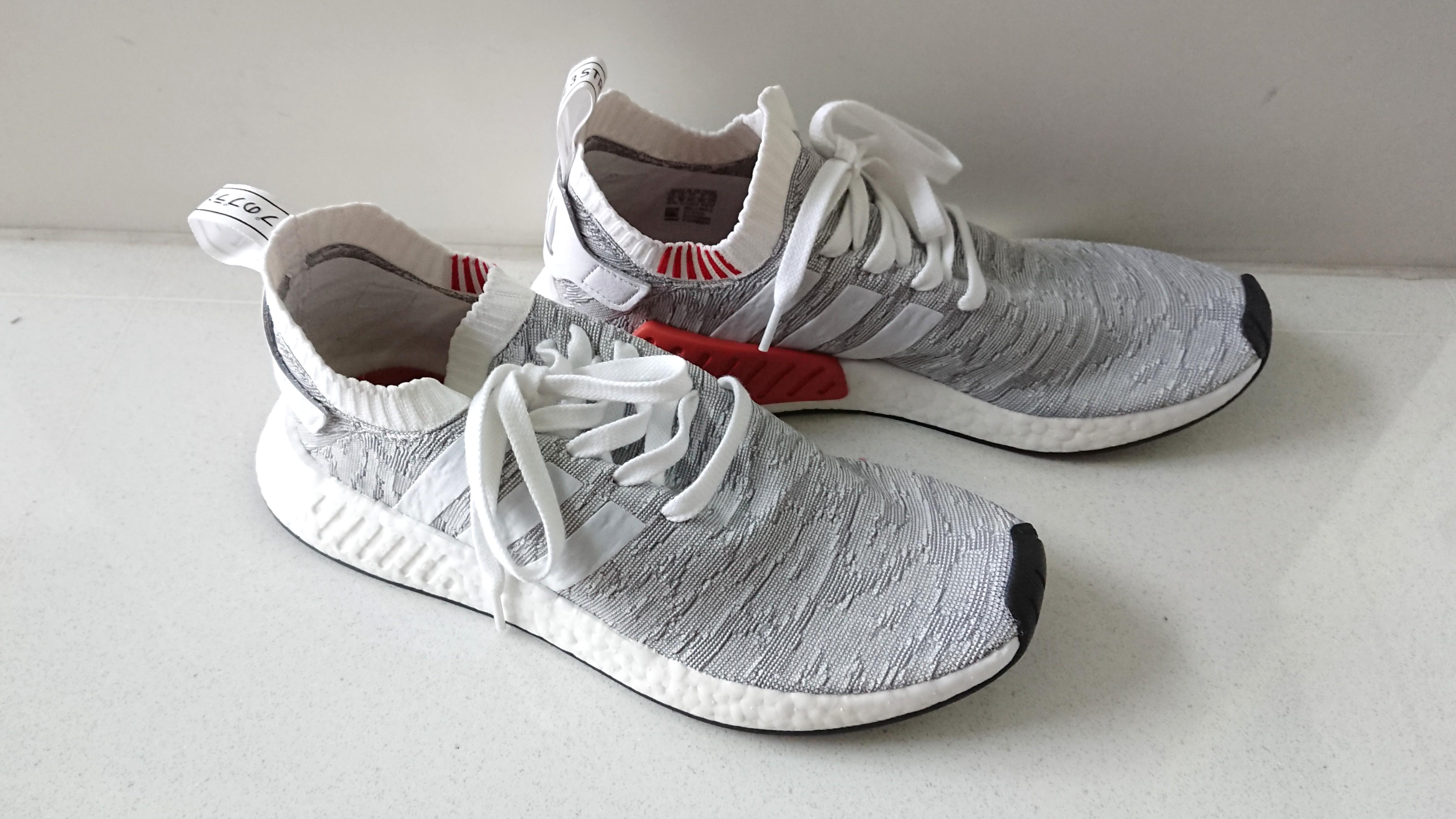 Adidas Originals NMD R2 Primeknit Trainers In White BY9410