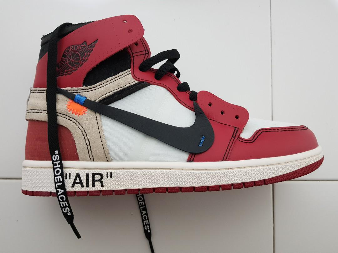 size 40 f00e3 2a513 Air Jordan 1 Chicago x off-white (limited), Men's Fashion ...