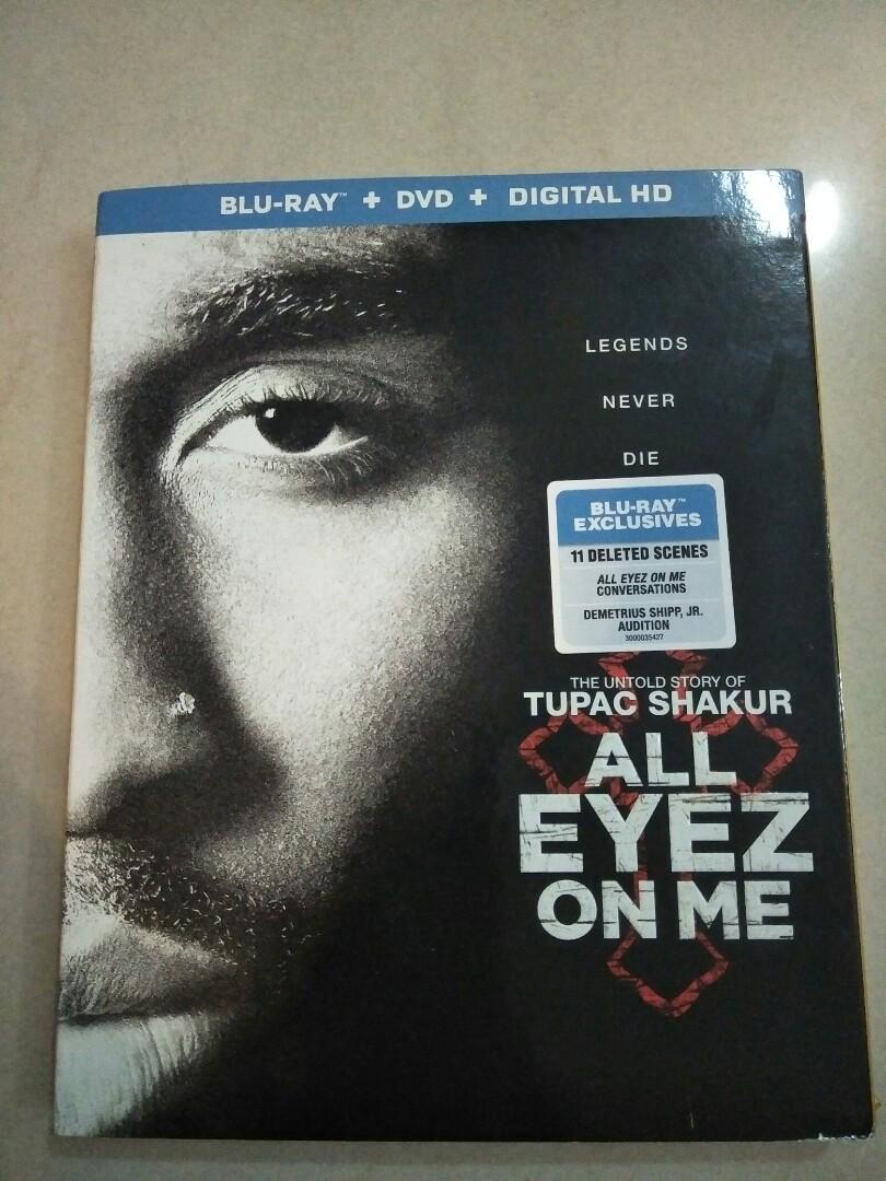All eyez on me blu ray + DVD