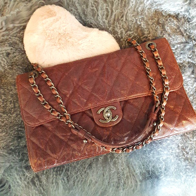 c1dba0b5faaa4d 🤗 Almost New: (RP: $4390) Chanel CC Crave (Jumbo) Flap Bag in ...