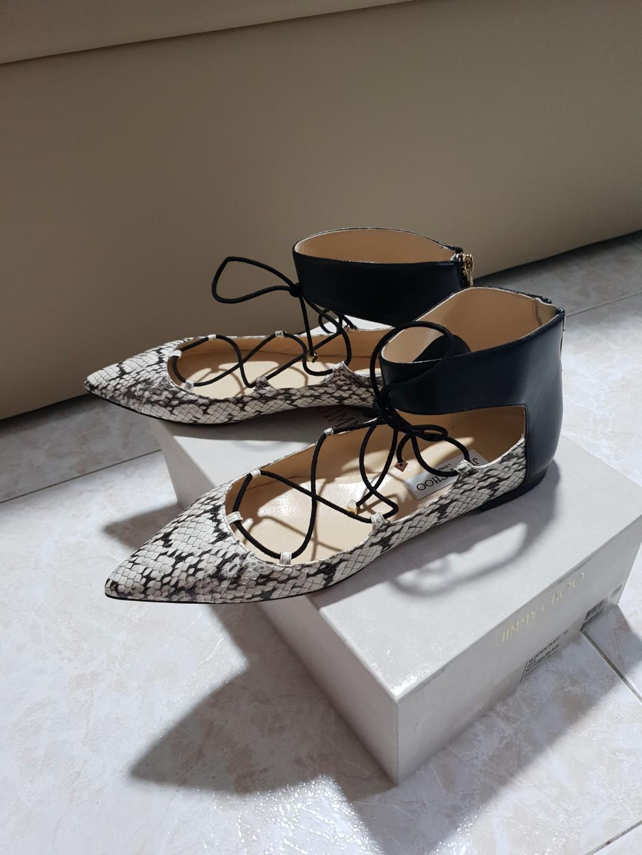 a79cda1c9 Auth BN Jimmy Choo Glisten Flat Python leather 41, Luxury, Shoes on ...