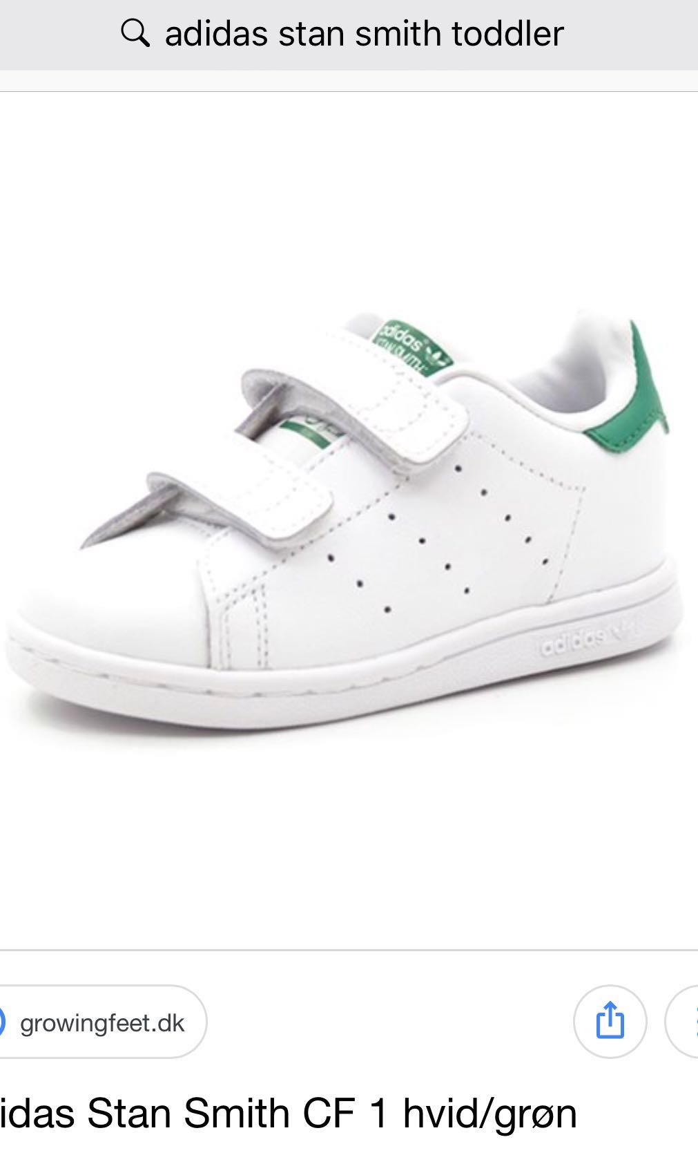 separation shoes f753d ff5d3 Authentic Adidas Stan Smith CF 1 toddler shoes