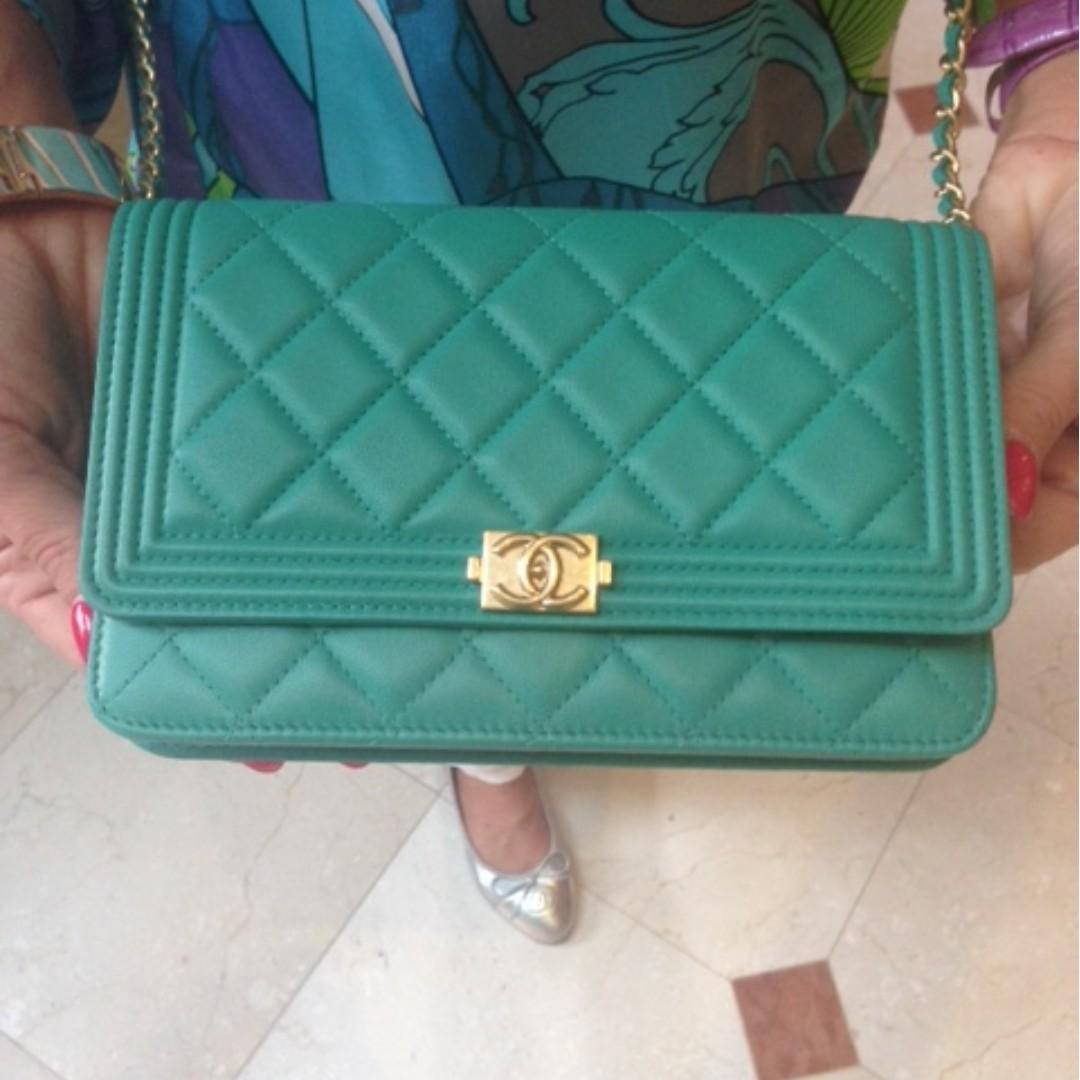 70441ffc5964 BNIB CHANEL BOY WALLET ON A CHAIN, Luxury, Bags & Wallets, Handbags ...