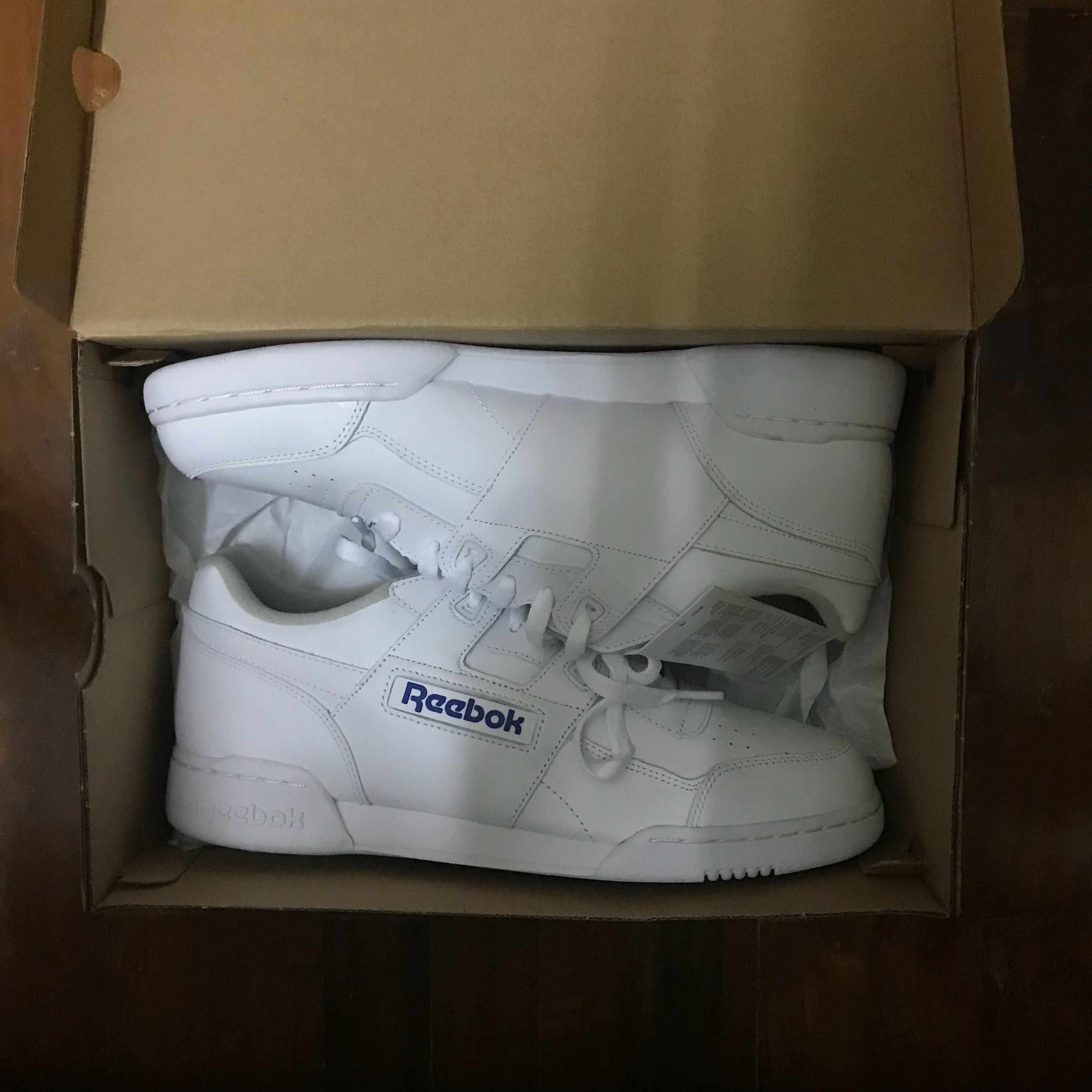 BN Reebok Workout Plus White, Men's Fashion, Footwear
