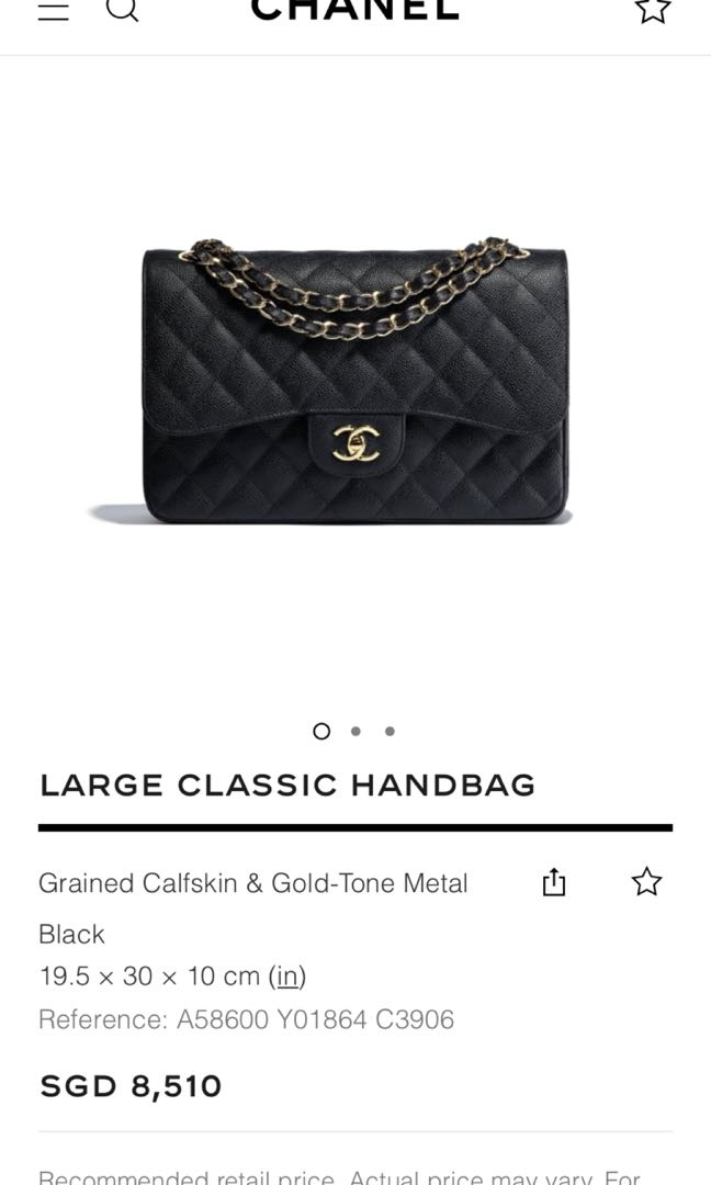 f1a1b178043c BNIB Chanel Jumbo Caviar GHW, Luxury, Bags & Wallets, Handbags on ...