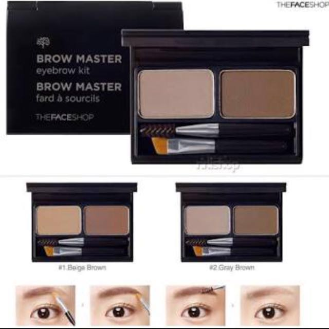 Brand New The Face Shop Brow Master Eyebrow Kit Health Beauty