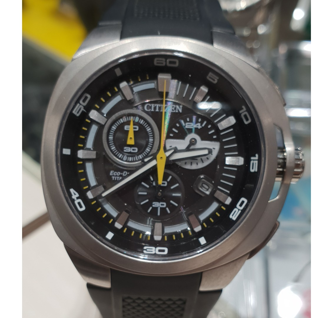 d4ef5803f Citizen Eco-Drive Chronograph Super Titanium AT2025-02E Men's Watch, Men's  Fashion, Watches on Carousell