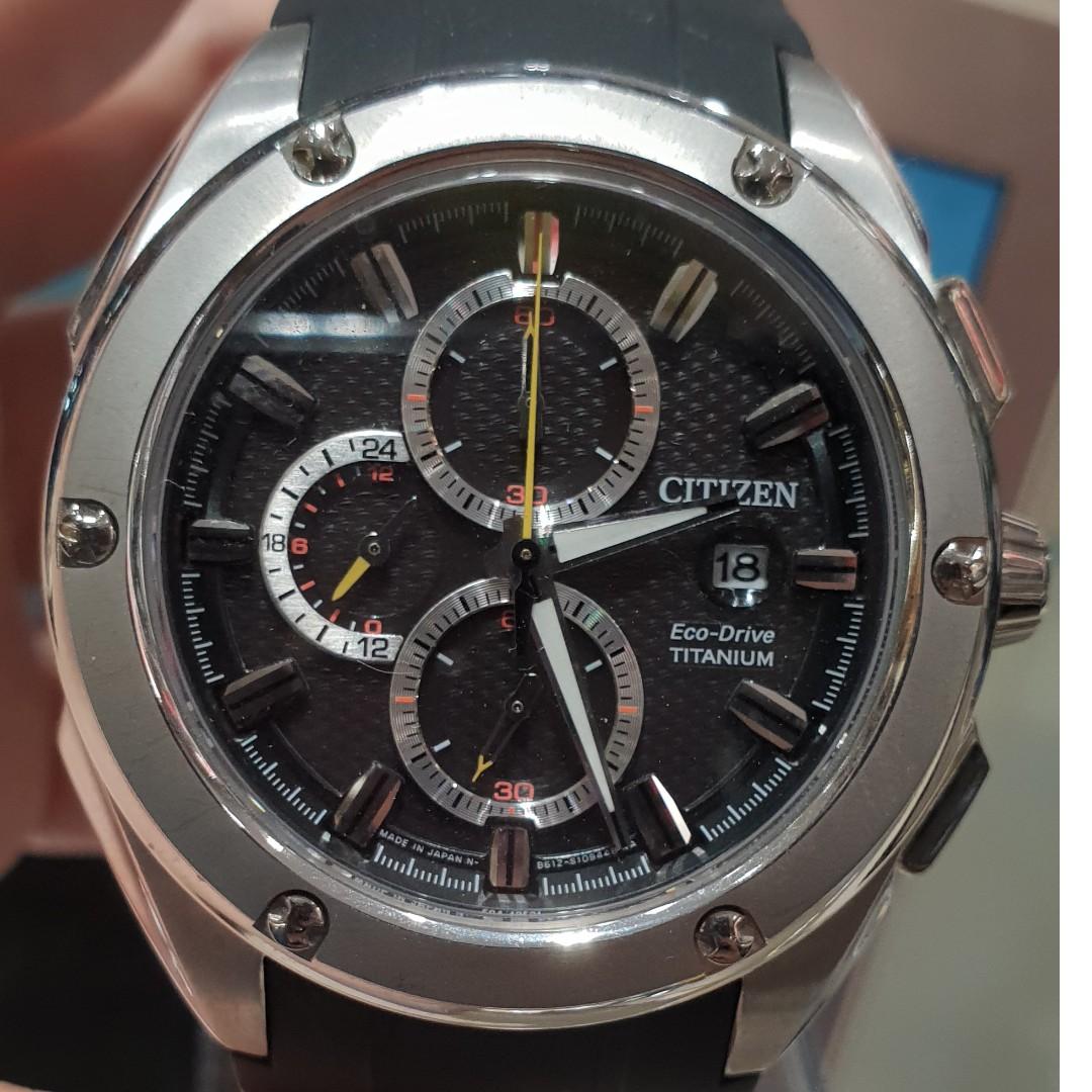 5662fe4d625 Citizen Eco-Drive Chronograph Super Titanium CA0210-00E Men s Watch ...