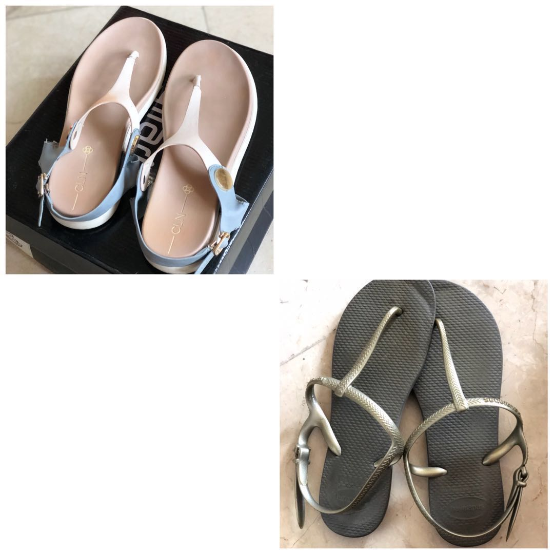 6d12a04b1 CLN and Havaianas Freedom Sandals Size 7