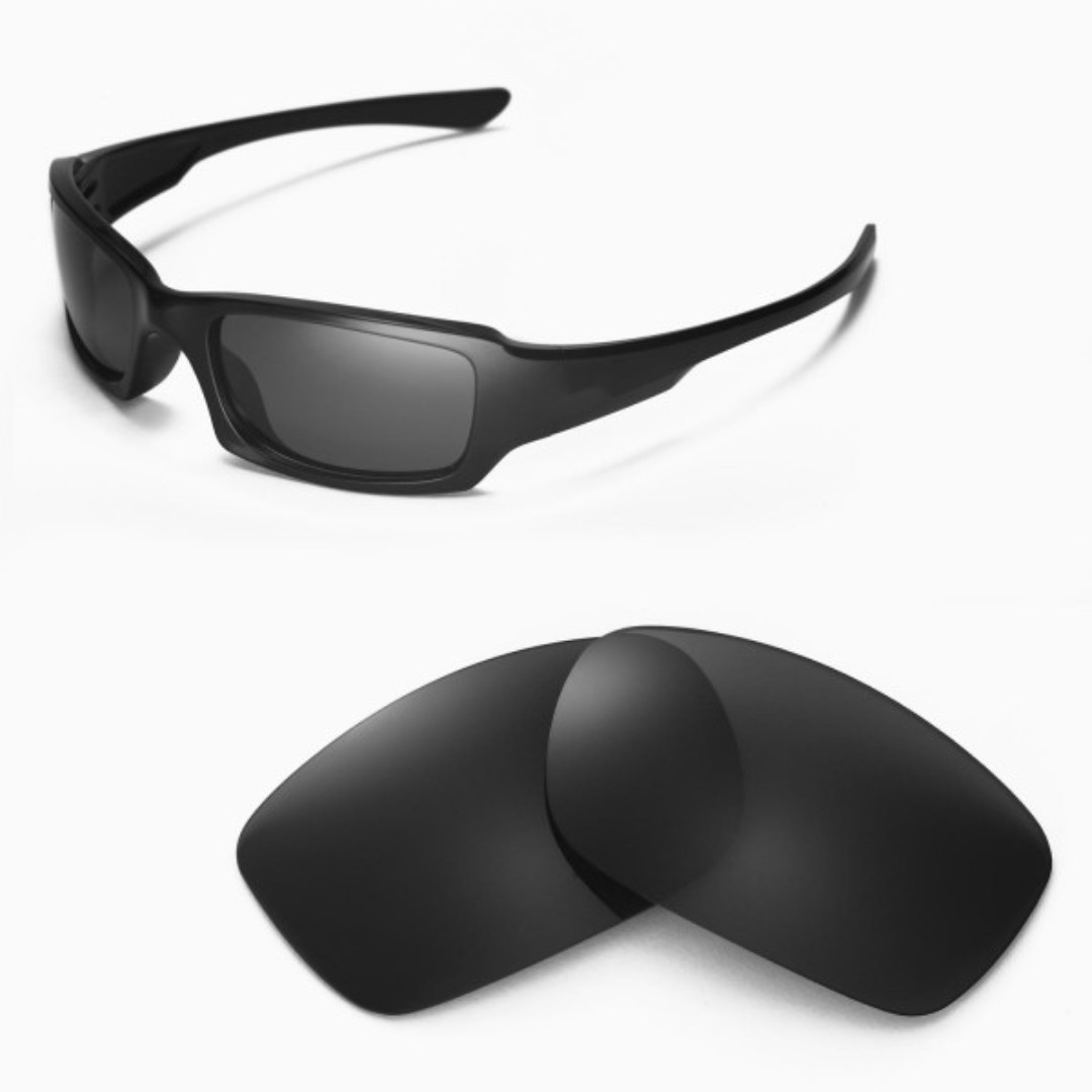 c4428fb670 Fives Squared Black POLARIZED Walleva Replacement Lenses for Oakley ...