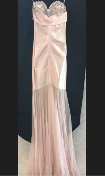 Formal gown Designer Mermaid Gown baby pink