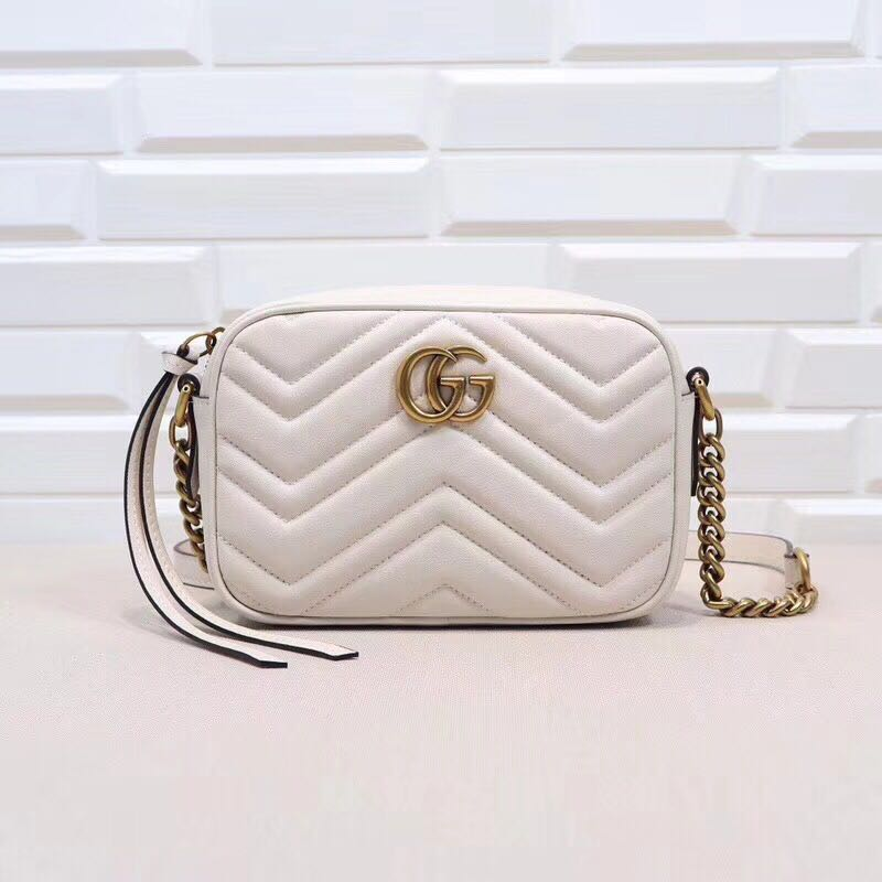 66aef0b8ae5 Gucci GG Marmont Small Quilted Camera Bag